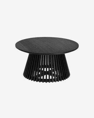 Mesa de centro Jeanette Ø 80 cm negro