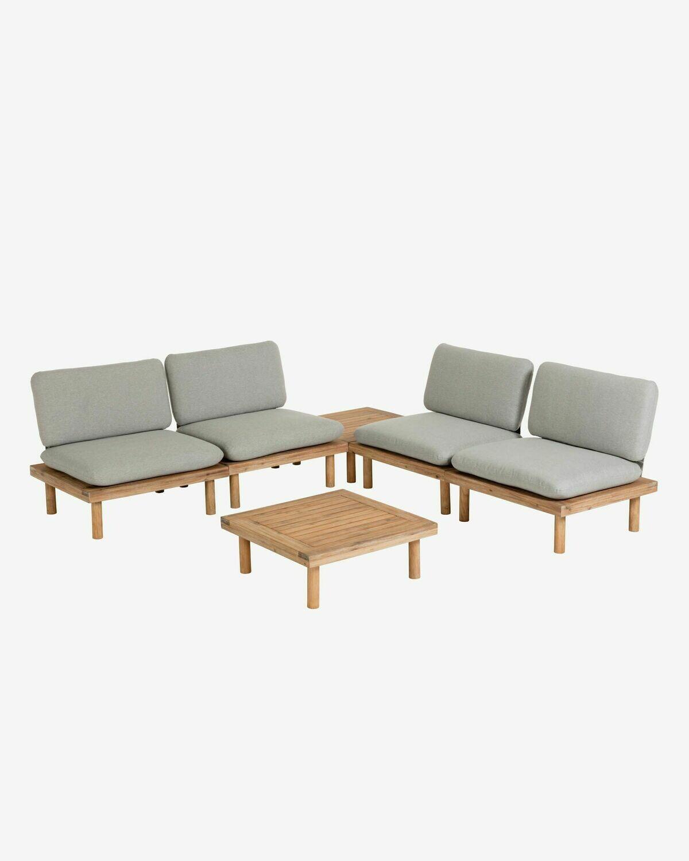 Set Viridis de 4 sillones y 2 mesas