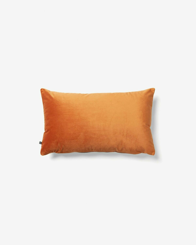 Funda cojín Lita 30 x 50 cm terciopelo naranja