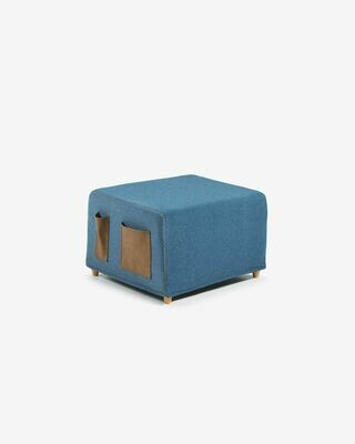Funda puf cama Kos azul oscuro