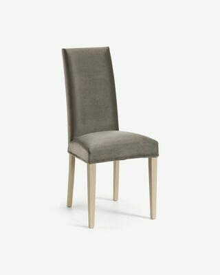 Funda silla Freda terciopelo gris