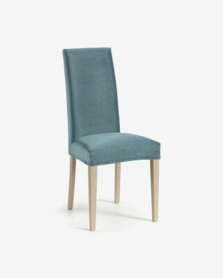 Funda silla Freda terciopelo turquesa