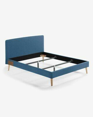 Funda cama Dyla colchón 150 x 190 cm azul oscuro