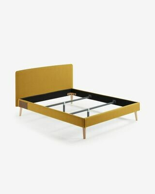 Funda cama Dyla colchón 160 x 200 cm mostaza