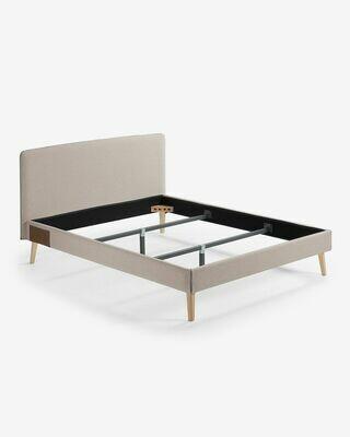 Funda cama Dyla colchón 150 x 190 cm beige