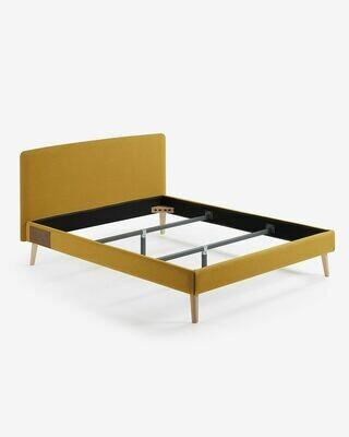 Funda cama Dyla colchón 150 x 190 cm mostaza