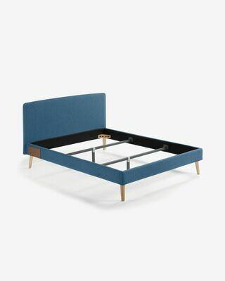 Funda cama Dyla colchón 160 x 200 cm azul oscuro