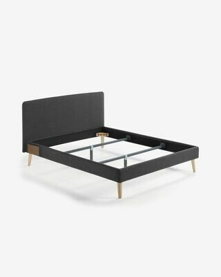 Funda cama Dyla colchón 160 x 200 cm grafito