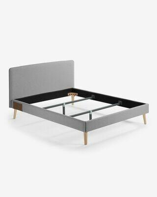 Funda cama Dyla colchón 150 x 190 cm gris
