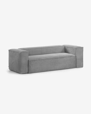 Sofá Blok 2 plazas pana gris 210 cm