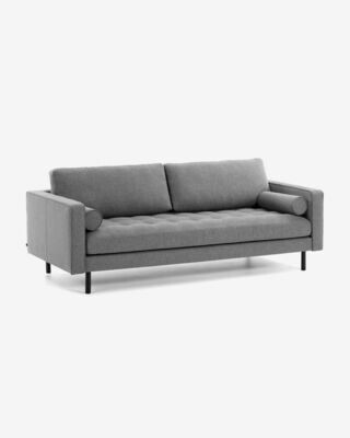 Sofá Debra 3 plazas gris oscuro 222 cm