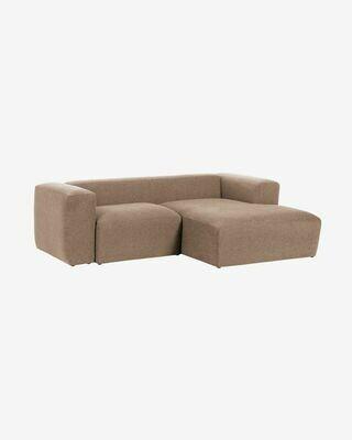Sofá Blok 2 plazas chaise longue derecho rosa 240 cm