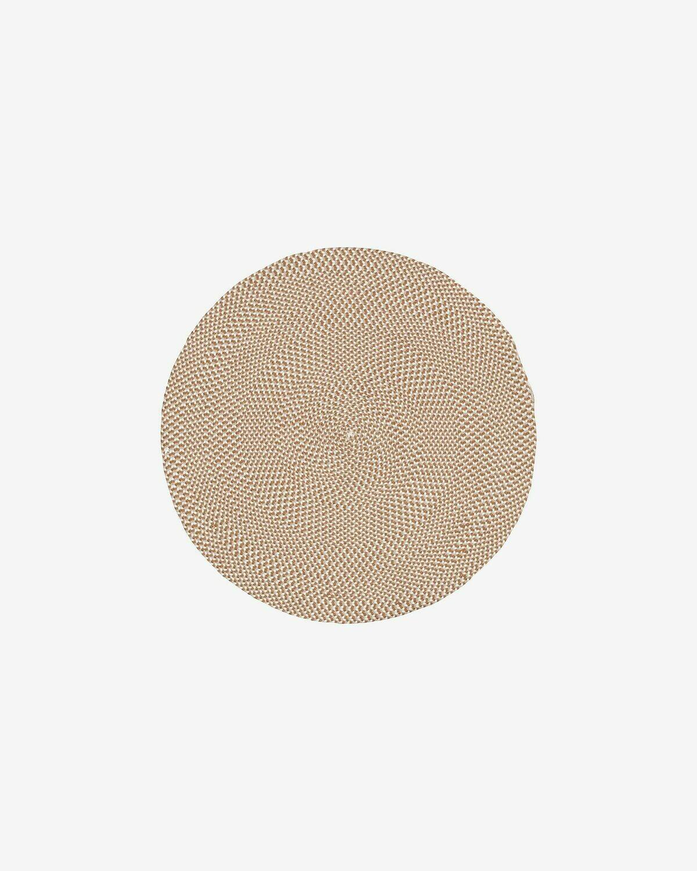 Alfombra Rodhe Ø 100 cm beige
