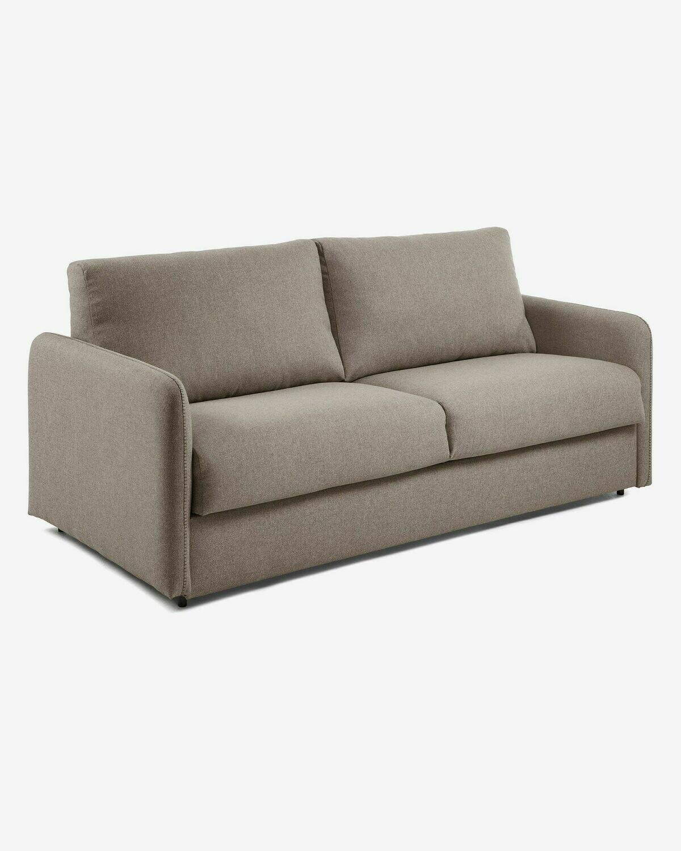 Sofá cama Kymoon 140 cm poliuretano marrón