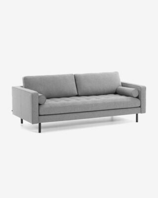 Sofá Debra 3 plazas gris claro 222 cm
