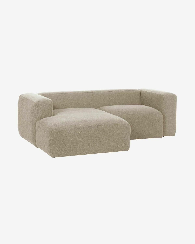 Sofá Blok 2 plazas chaise longue izquierdo beige 240 cm