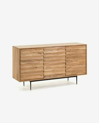 Aparador Delsie 147 x 81 cm de madera maciza de acacia