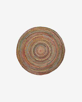 Alfombra Saht Ø 100 cm multicolor