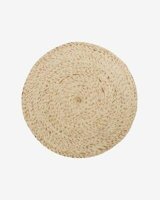 Alfombra redonda Takashi 100% lana beige Ø 150 cm