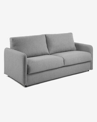 Sofá cama Kymoon 160 cm poliuretano gris claro