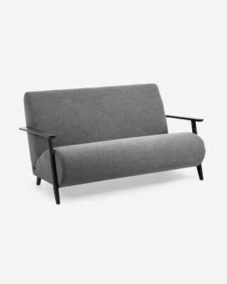 Sofá Meghan 2 plazas gris oscuro 145 cm