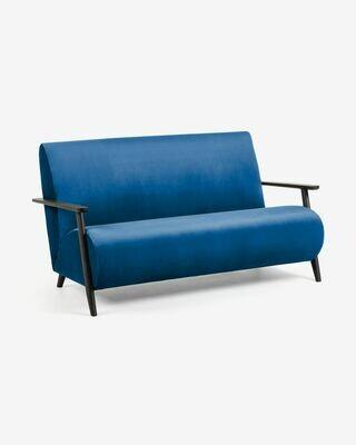 Sofá Meghan 2 plazas terciopelo azul 145 cm