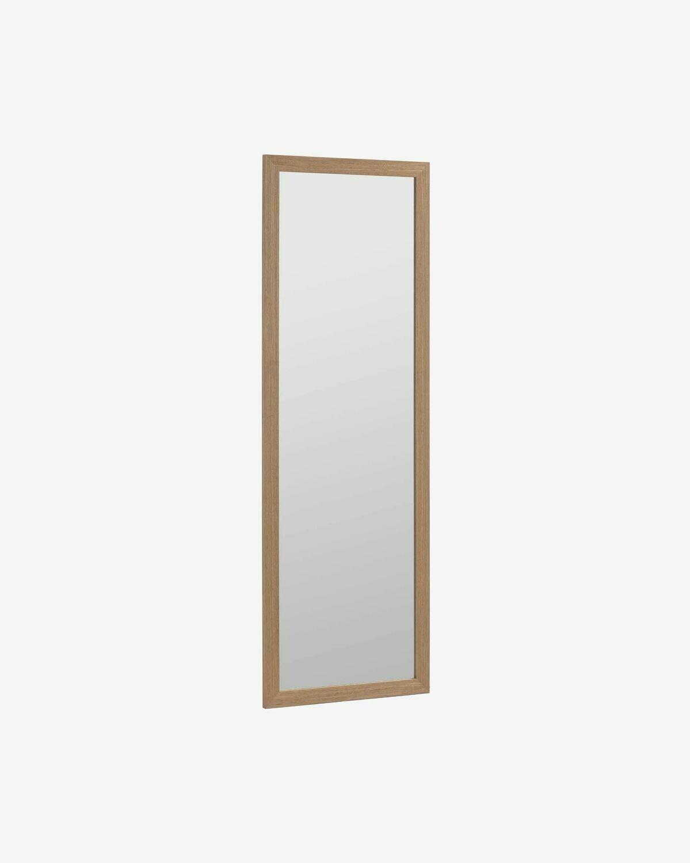 Espejo Nerina 52,5 x 152,5 cm marco ancho con acabado nogal