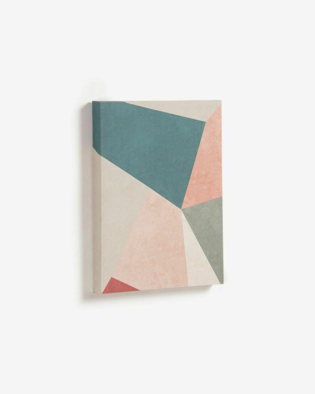 Lienzo Kyrene 28 x 35 cm trapecio azul