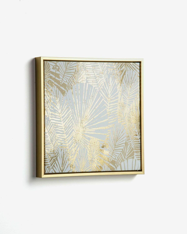 Cuadro Ibisco 40 x 40 cm dorado