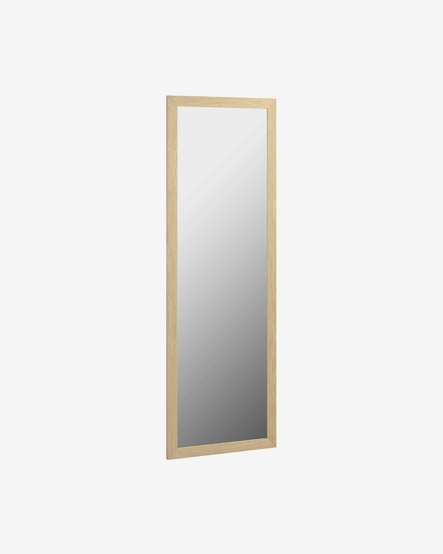 Espejo Nerina 52,5 x 152,5 cm marco ancho con acabado natural