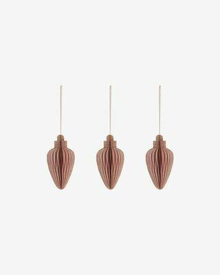 Set Yaril de 3 adornos colgantes decorativos rosa