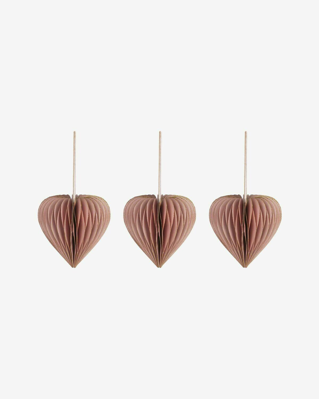 Set Uriel de 3 adornos colgantes decorativos rosa