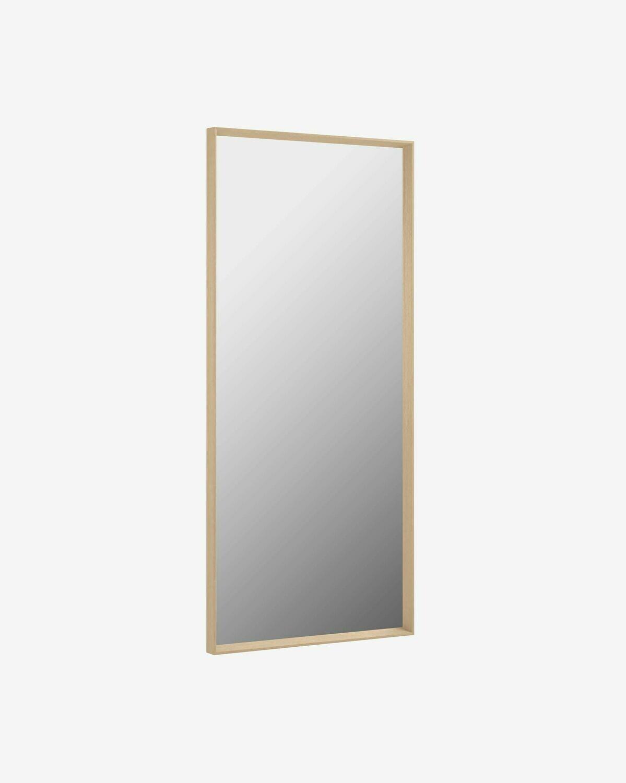 Espejo Yvaine 80 x 180 cm con acabado natural