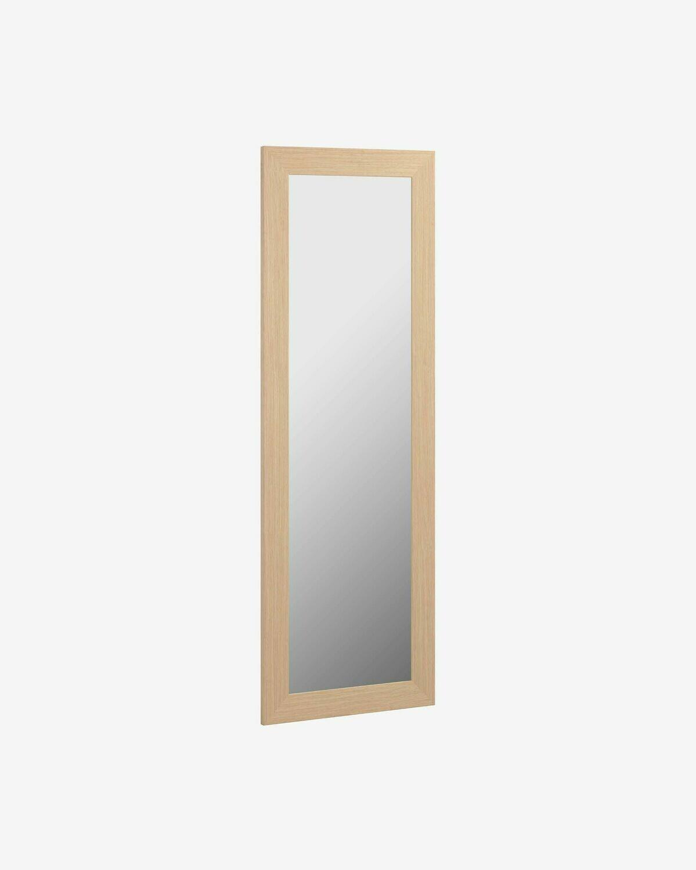 Espejo Yvaine 80,5 x 180,5cm marco ancho con acabado natural