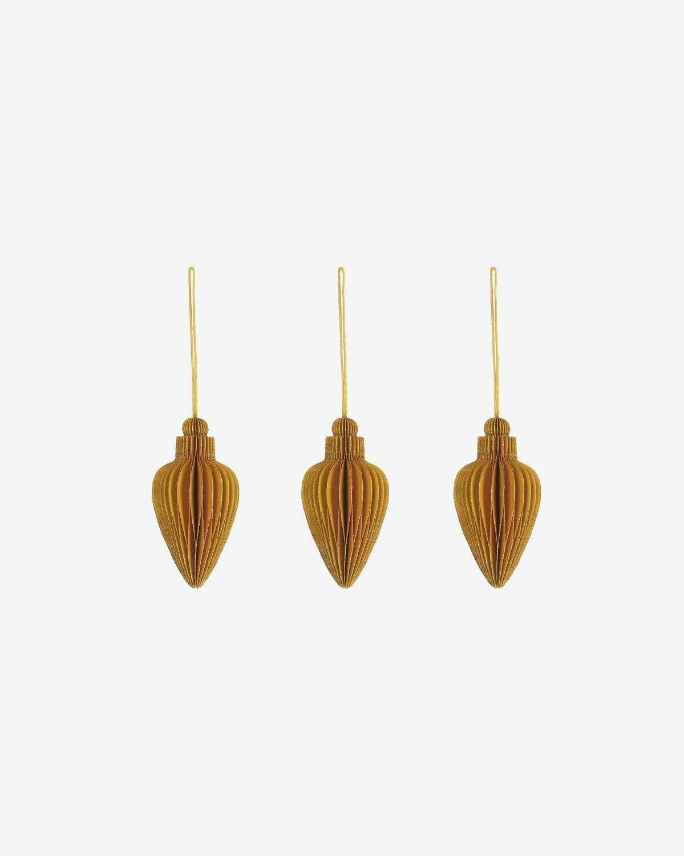 Set Yaril de 3 adornos colgantes decorativos amarillo