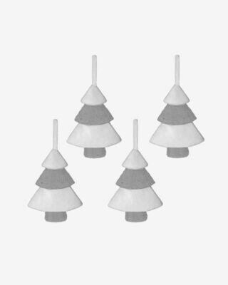 Set Clemons de 4 colgantes decorativos de árbol de Navidad
