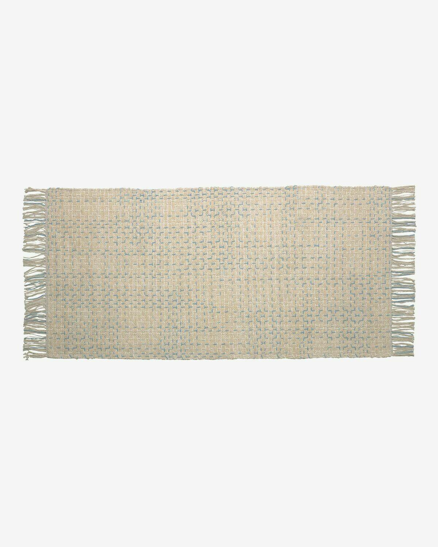 Alfombra Nur 100% algodón azul 70 x 140 cm