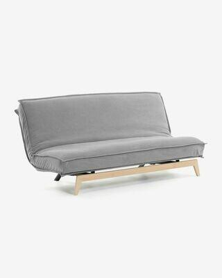Sofá cama Eveline 195 cm gris estructura madera