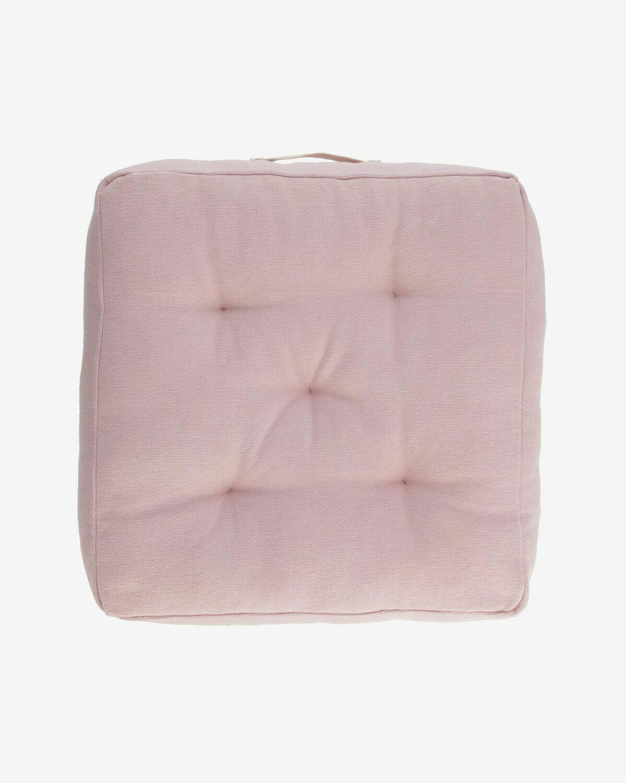 Cojín para suelo Sarit 100% algodón (GOTS) rosa 60 x 60 cm