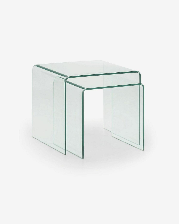 Set Burano de 2 mesas nido de cristal