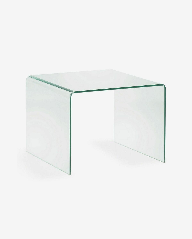 Mesa auxiliar Burano de cristal 60 x 60 cm