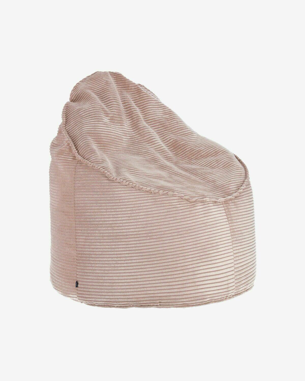 Puf Wilma Ø 80 cm pana rosa