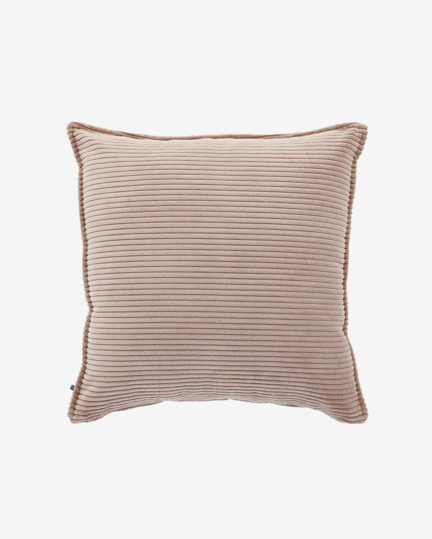 Funda cojín Wilma 60 x 60 cm pana rosa