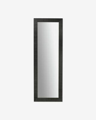 Espejo Seven de madera maciza de ayous 52 x 152 cm negro