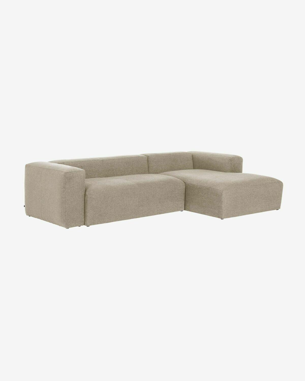Sofá Blok 3 plazas chaise longue derecho beige 300 cm