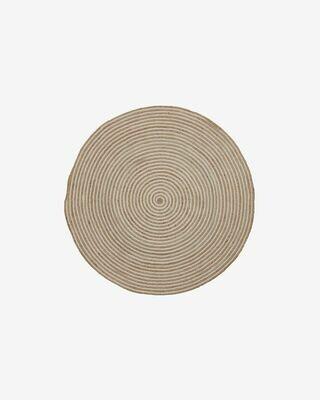 Alfombra Saht Ø 100 cm natural y blanco