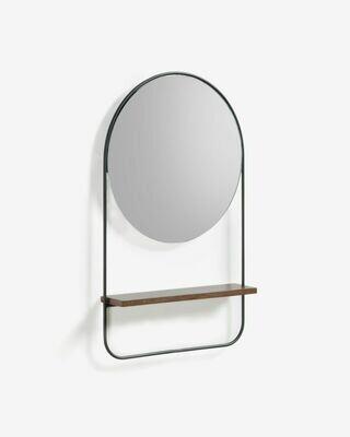 Espejo Marcolina de acero 37 x 58 cm