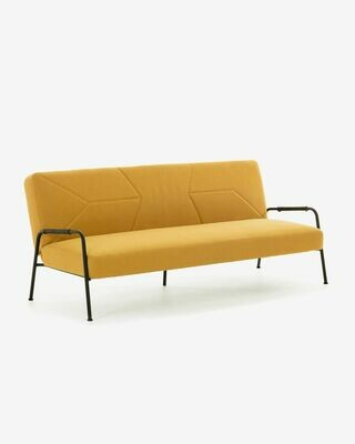 Sofá cama Neiela 180 cm mostaza