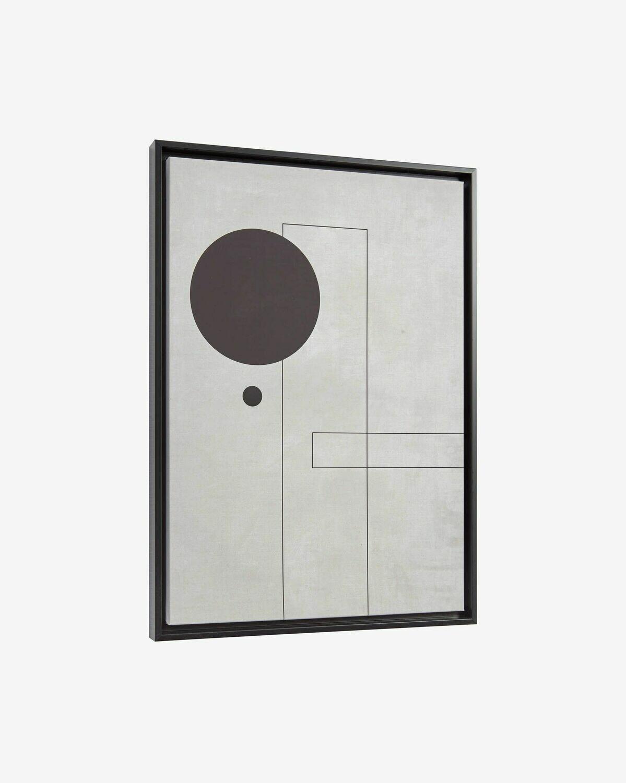 Cuadro Myrthe círculo negro 50 x 70 cm