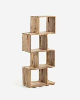 Estantería Aroba 55 x 132 cm de madera maciza de teca reciclada